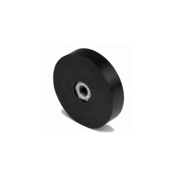 45 mm. gummimagnet med indvendigt gevind M6