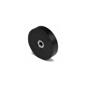 Gummimagnet ø36 mm. med indvendigt gevind M6