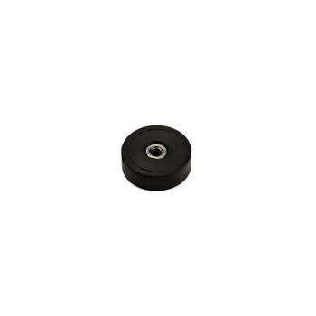 20 mm. neodymmagnet m. gummi og indvendigt gevind M4