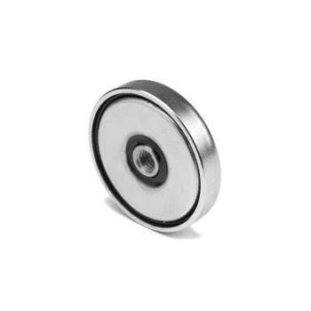 40 mm pottemagnet neodymium N38 med indvendigt gevind