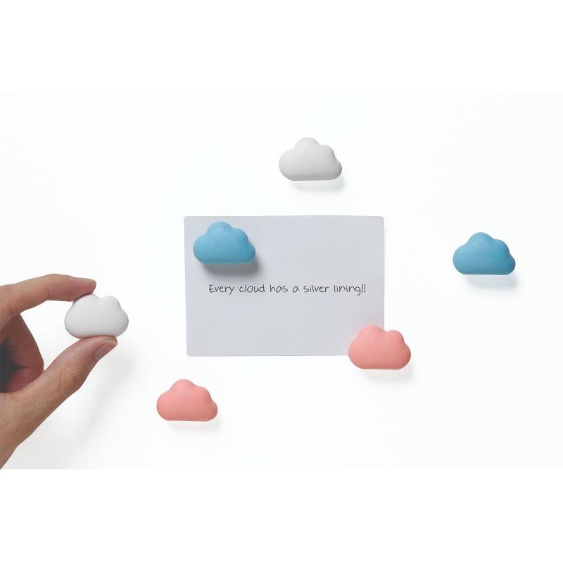 Billede af Cloud magneter pastel 6-pak - køleskabsmagneter