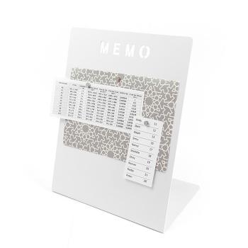 Memo tavle i hvid med 3 magneter fra Trendform