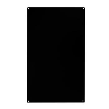 Magnet whiteboard i sort rektangulært i målene 50x30 cm.