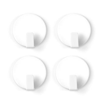 Hvide magnetkroge med antislip fra Trendform 4-pak