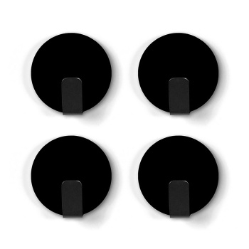Sorte magnetkroge med antislip fra Trendform 4-pak